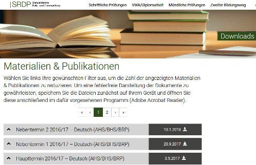 Die Standardisierte Reifeprüfung Im Unterrichtsfach Deutsch Lesen